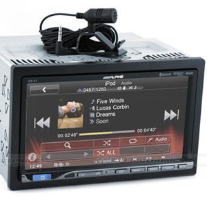 "Alpine ICS-X7 7"" Bluetooth DVD MirrorLink Receiver"