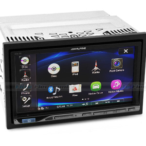 "Alpine ICS-X8 Bluetooth 7"" LCD DVD Receiver"
