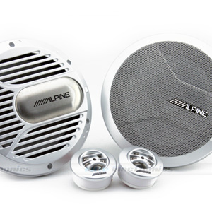 "Type-R 7"" Component 2-Way Marine Speakers with..."