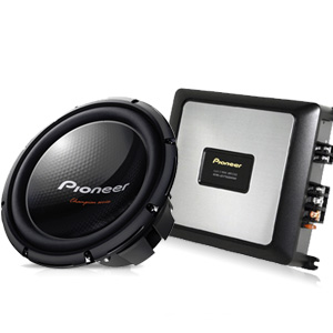 Pioneer Subwoofer + Amplifier Package
