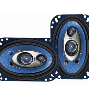 "Pyle PL463BL 4""x6"" 3-Way Coaxial Speakers"