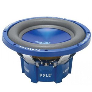 "Pyle PLBW124 12"" Blue/Chrome DVC Subwoofer"