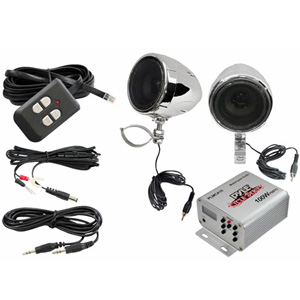 "Pyle PLMCA10 3"" Motorcycle Speakers + Amplifier"