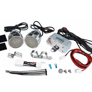 "Pyle PLMCA60 3"" Chrome Motorcycle Speakers + Amplifier"