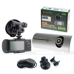 "Gator HDDVR351 Dual Car Camera DVR 2.6"" + 4GB Memory Card"