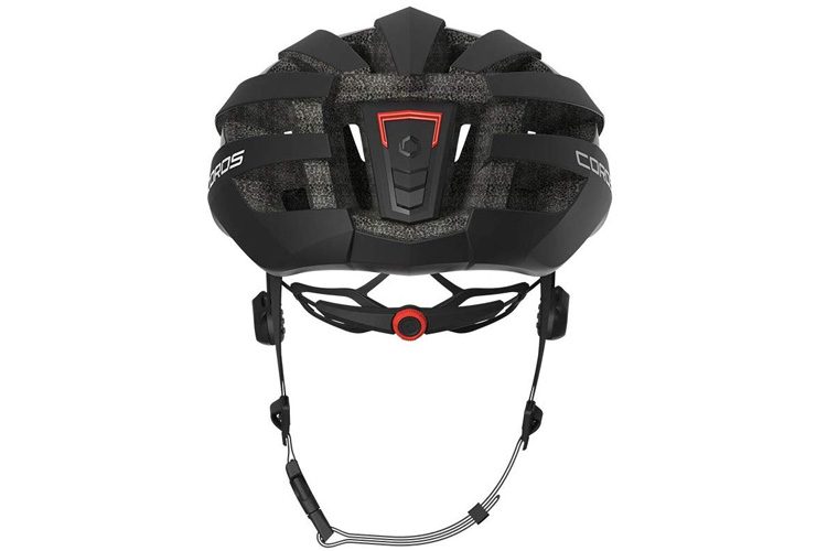 Coros SafeSound Mountain Smart Cycling Bluetooth Helmet Tail Light Black Large