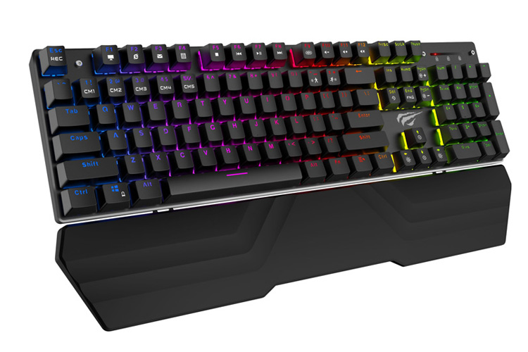 Havit Hv Kb432l Rgb Mechanical Keyboard W Detachable Wrist Rest