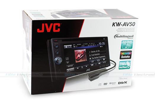 "JVC KW-AV50 6.1"" Monitor DVD Player"