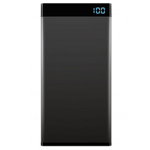 Laser Precision 20000 mAh Power Bank 3-in-1 Cable LED Display Black