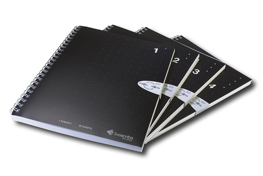 Livescribe ANX-00003 A5 Lined Notebook (4 Pack)
