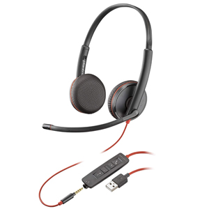 Plantronics Blackwire C3225 UC Stereo Corded Headset USB-A or USB-C