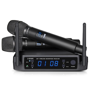 RBR BM630 UHF USB Rechargeable Handheld Wireless Microphone Karaoke