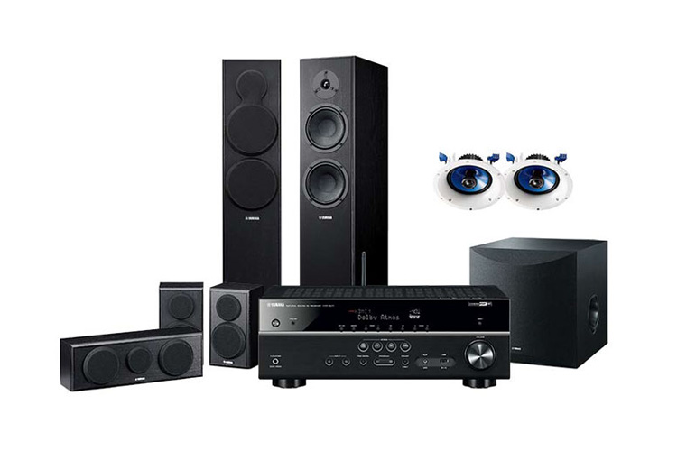 yamaha yht 8940 5 1 2 channel dolby atmos home theatre pack. Black Bedroom Furniture Sets. Home Design Ideas