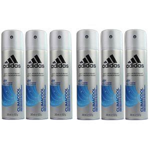 6x Adidas For Men Anti-Perspirant Climacool 48H 200ml 122g 6 Pack