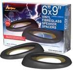 Aerpro APF69LBL 6x9152x228mm Speaker Spacers Black Vinyl Fibreglass