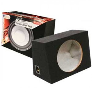 "Aerpro SB12100N Sealed 12"" 305mm Subwoofer Box Hole In Flat Side"