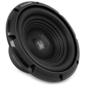 "Alpine W10S4 Bass Series 10"" 750W Peak 250W RMS Single 4-Ohm Subwoofer"