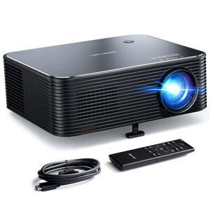 Apeman LC650 Full HD Native 1080P 6000 Lumens Video Projector