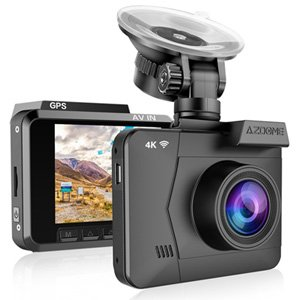 AZDOME 4K Ultra 2160P Wi-Fi GPS Dash Cam DVR Camera Night Vision