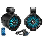 Boss Audio B62RGB Marine 6.5 Wake Tower RGB BT Powered Speakers Pair