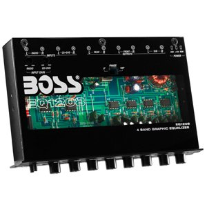 Boss Audio EQ1208 4 Band Pre-amp Equalizer with Subwoofer Output