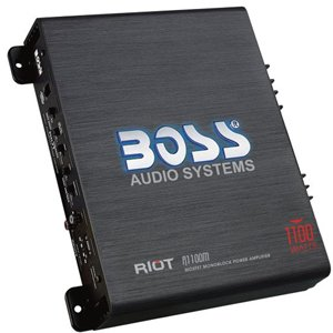 Boss Audio R1100M Riot 1100W High Output Monoblock Class AB Amplifier