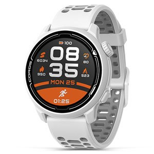Coros Pace 2 Premium GPS Sports Watch White w/ Silicon Band