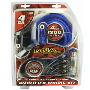DNA AK44 4-Gauge 4-Channel 1200W Amplifier Wiring Kit