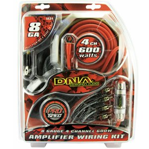 DNA AK84 8-Gauge 4-Channel 600W Amplifier Wiring Kit
