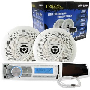 "DNA MA4BP Marine Audio Pack Radio + 6.5"" Speakers + Antenna"