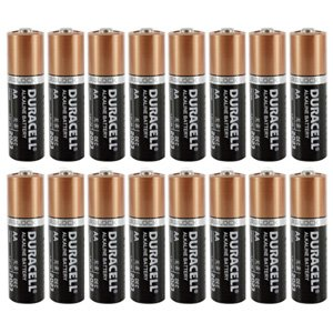 Duracell Coppertop Double AA 1.5V Alkaline Batteries 16 Pack