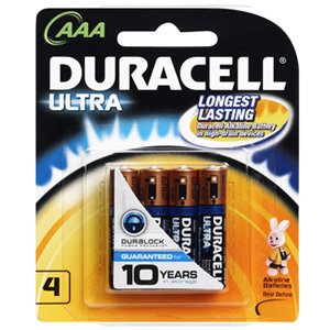 Duracell Ultra AAA Alkaline Battery x 4