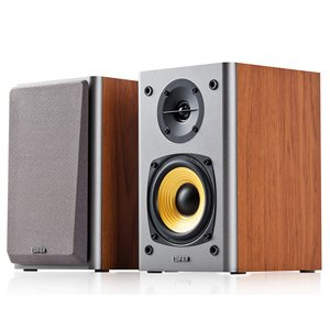 "Edifier R1000T4 Active Bookself 4"" Bass Driver Speakers BROWN"
