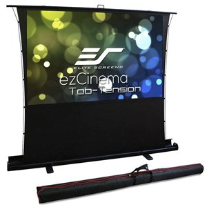 "Elite Screens FT92XWH 92"" 16:9 Portable Tension Floor Pull Up Projecto"