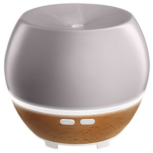 Homedics Ellia Awaken Grey Ultrasonic Light Oil Aroma Diffuser