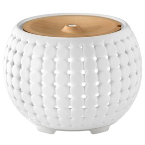 Homedics Ellia Gather White Ultrasonic Light Oil Aroma Diffuser