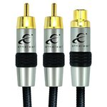 Ethereal EEY2F 30cm Premium RCA Y Adapter 1 Female-2 Male Cable