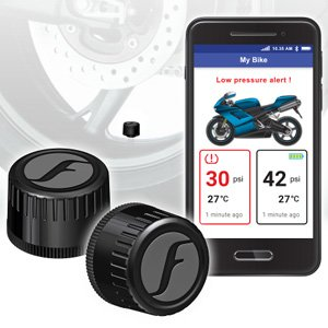 Fobo Bike 2 Tyre Bluetooth 5.0 Wireless TPMS DIY 116 PSI Black