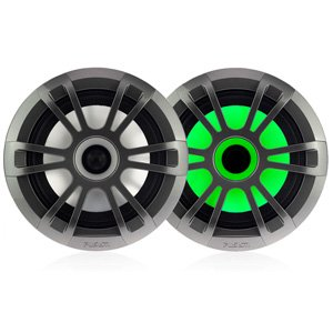 "Fusion EL-FL651SPG 6.5"" Shallow Mount Marine Speakers w/ LEDs"
