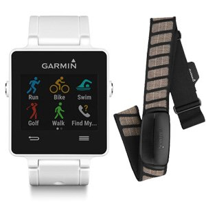 Garmin Vivoactive GPS Smartwatch White w/ Heart Rate Monitor