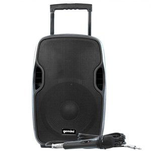 "Gemini 12"" Active 1500W Bluetooth Battery PA Loudspeaker AS-12TOGO"