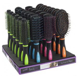 Induge 4 x Hair Brush of different designs and colours 4-Pack