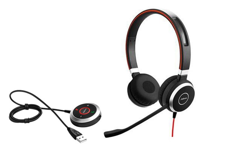 Jabra Evolve 40 Uc Usb 3 5mm Jack Stereo Hd Audio Headset