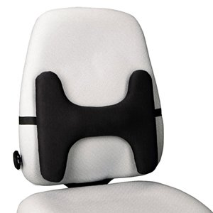 Kensington SmartFit Lumbar Black Back Rest Posture Support For Chair