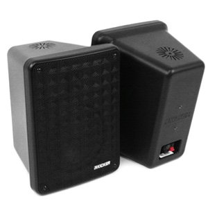 "Kicker 46KB6B 6.5"" 2-Way Indoor Outdoor Marine Speakers Black Pair"