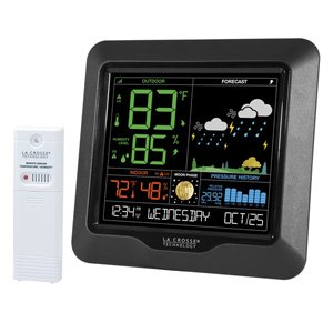 La Crosse Moon Phase Colour Weather Station Temp Forecast S84107