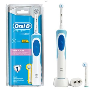 Oral-B Vitality Gum Care Rechargeable Electric Toothbrush w/ 2 Brush H