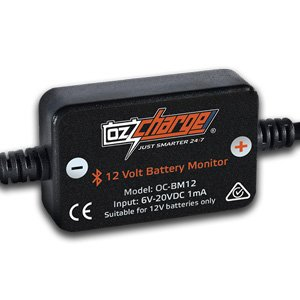 OzCharge OC-BM12 12V Volt DIY Bluetooth Battery Monitor + App