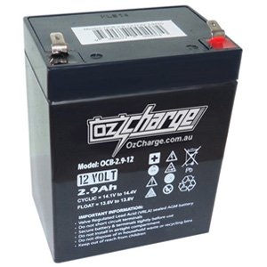 OzCharge 12V 2.9Ah Sealed AGM Deep Cycle Battery OCB-2.9-12