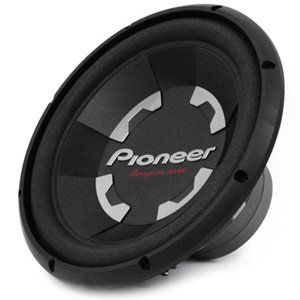 "Pioneer TS-300D4 D-Series 12"" Dual 4 ohm Free Air Subwoofer"